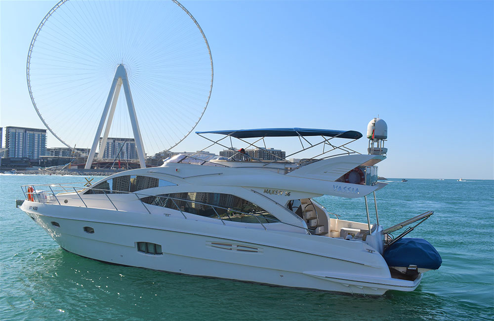 Private cruise near Tallest Ferris JBR Wheel in Dubai
