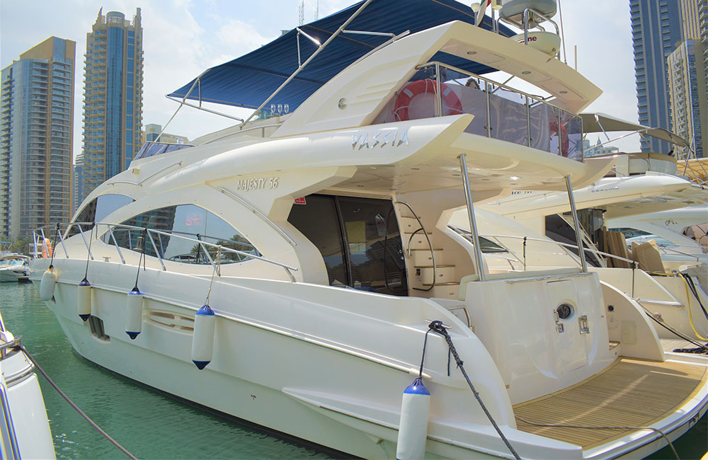 Private Yacht with style-pushing design at Dubai Marina Dock