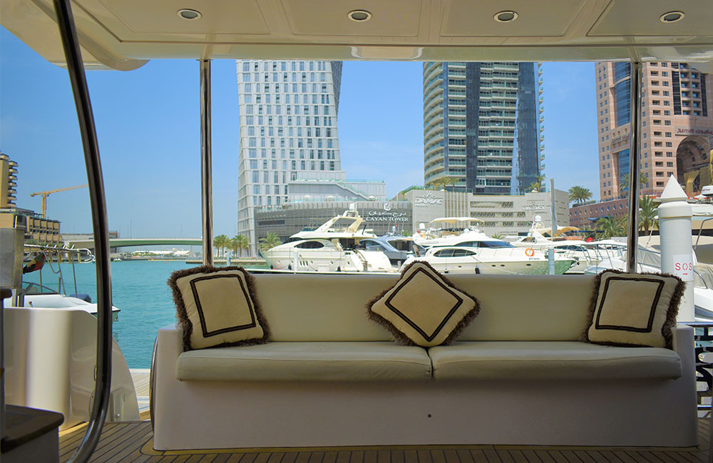 Comfortable Sitting Area on Yacht