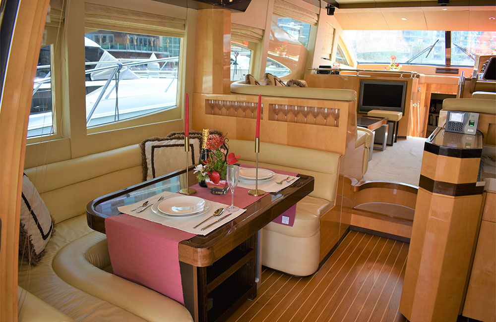 Marvelous Interiors to enjoy your special moments on yacht