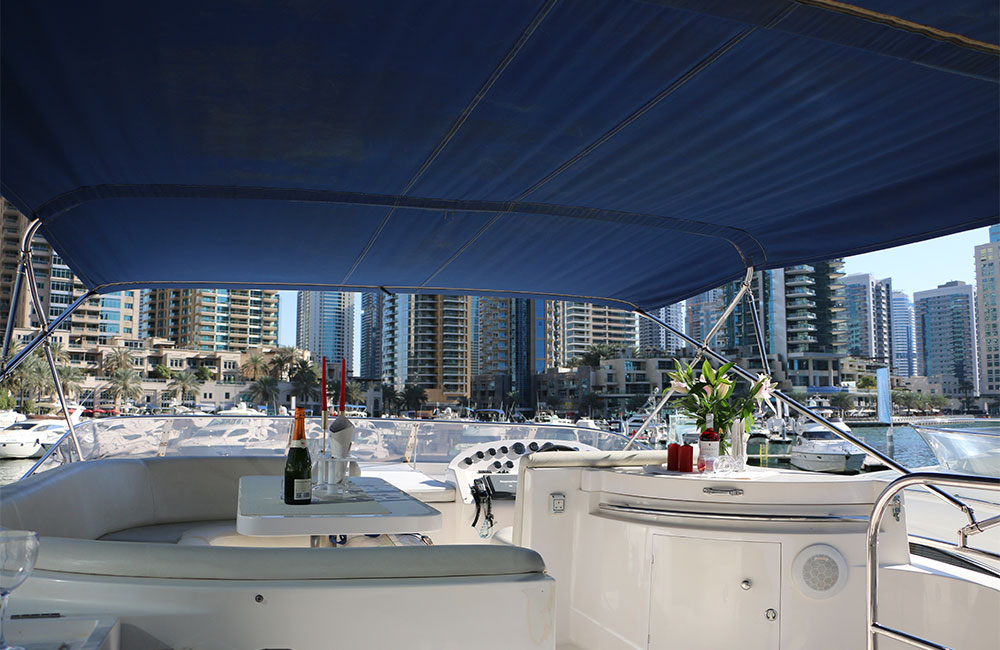 Yacht top deck to enjoy the view of horizon